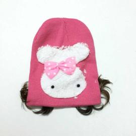 Mũ len Hàn Quốc phối tóc giả cho bé yêu