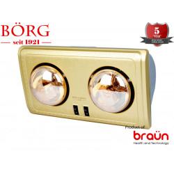 Đèn sưởi nhà tắm 2 bóng Braun BU02