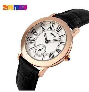 Đồng hồ dây da Skmei 1083 (đen)