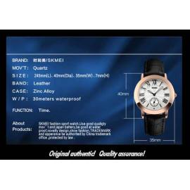 [SALE] Đồng hồ nữ dây da Skmei 1083 Quartz chống thấm nước thời thượng - Bảo hành 3 tháng (đen)