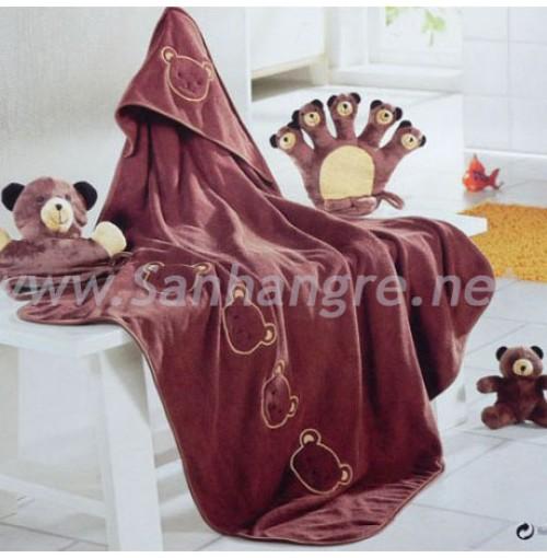 Set khăn choàng tắm hình thú