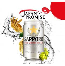 Thùng 12 Lon Bia Nhật Sapporo Premium Silver 330ml