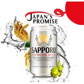 Set 6 lon bia Nhật Sapporo Premium Silver 330ml