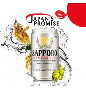 Bia Nhật Sapporo lon Premium Silver 330ml