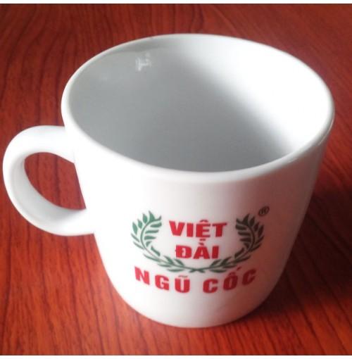 Cốc sứ có quai 345ml quà tặng từ Việt Đài Ngũ Cốc