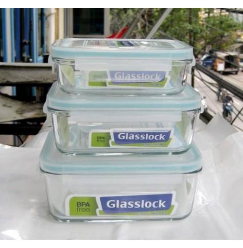 Bộ 3 hộp thủy tinh glasslock