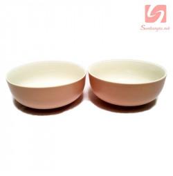 Bộ 2 tô canh sứ Pastel Hàn Quốc - Hồng
