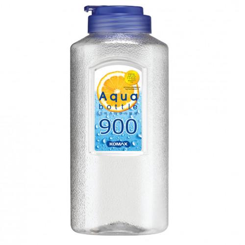 Bình nhựa đựng nước Aqua Komax Hàn Quốc 900ml xanh biển