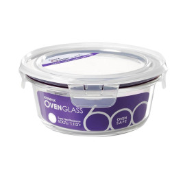 Bộ 2 hộp thủy tinh tròn chịu nhiệt Komax Oven Glass Hàn Quốc BGC