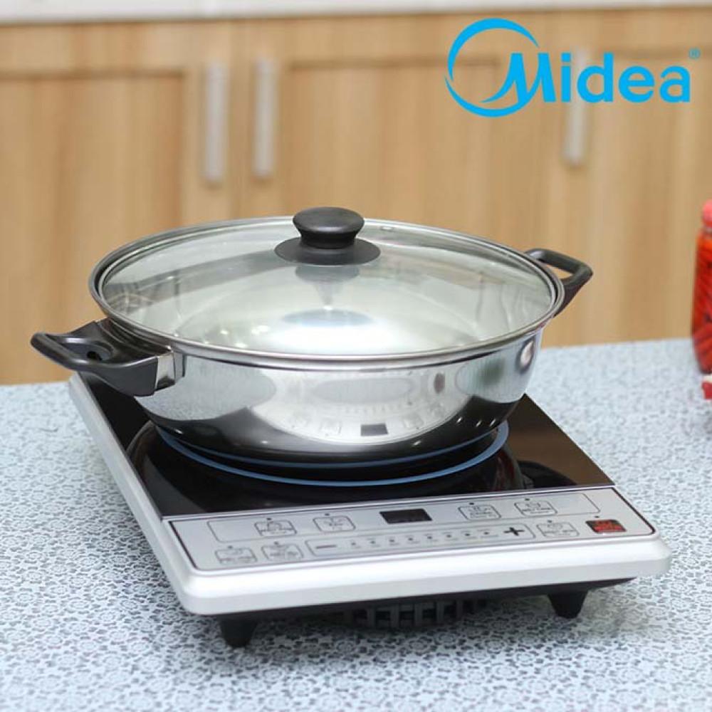 Bếp điện từ Midea MI-B2015DE tặng kèm nồi lẩu Inox 26cm - 569,000