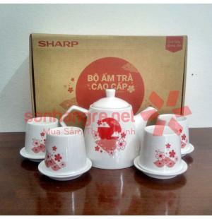 Bộ ấm trà sứ cao cấp Sharp PR-DHTEA1