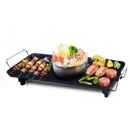 Bếp lẩu nướng đa năng BBQ Queens Sony GR915L (Tặng 1 nồi lẩu Inox)
