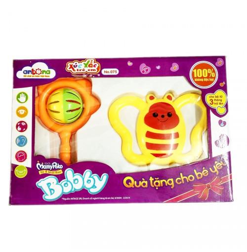 Xúc xắc con bướm và chùy cho bé Bobby Antona