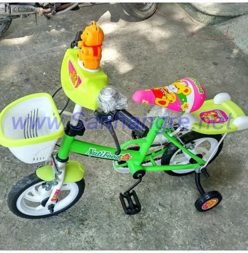 Xe đạp 12inch Nutifood màu xanh gấu Pooh cho bé yêu