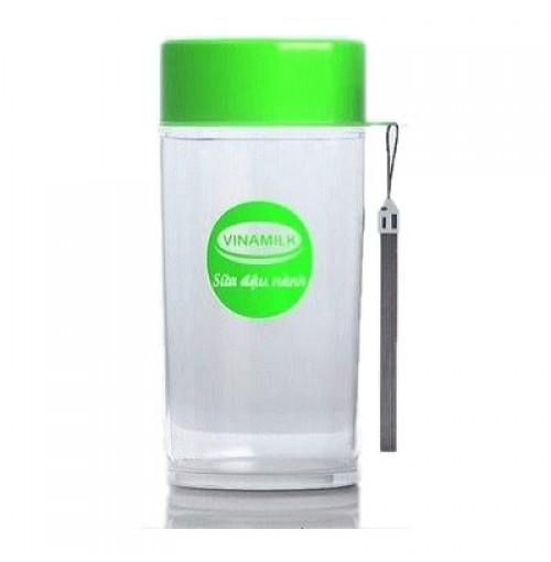 Bình đựng nước Sữa đậu nành Vinamilk 380ml - Xanh lá