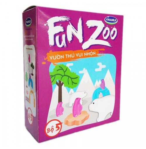 Bộ đồ chơi Vườn thú Xứ lạnh FunZoo số 5 - Tím hồng