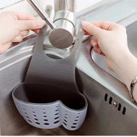 Giỏ đựng đồ Silicon treo vòi nước đa năng GD9665 xuất Nhật - Trắng