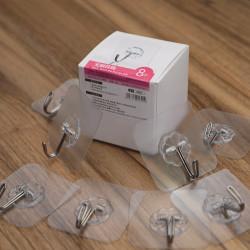 Bộ 8 móc Inox dinh tường 10kg siêu dính KM-5301 hàng Nhật