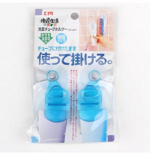 Vỉ 2 móc hít kẹp tuýp thuốc đánh răng, mỹ phẩm KM 811 hàng Nhật - Xanh