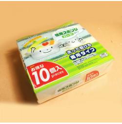 Bộ 10 miếng xốp rửa chén bát 8.3x5cm KM C008 Nhật Bản