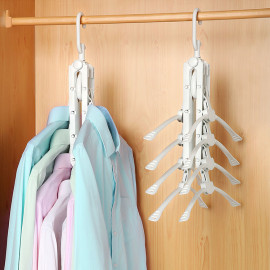 Móc treo quần áo đa năng thông minh gập gọn Komeki 4008 hàng Nhật