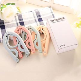 Bộ 5 mắc treo quần áo gấp gọn thông minh KM-60201 hàng Nhật màu xanh
