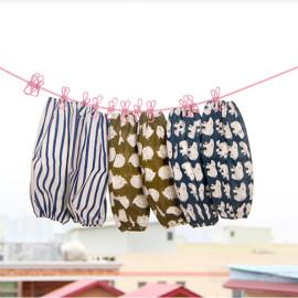 Dây phơi thông minh 1m8 - 3m6 kèm 12 kẹp phơi quần áo Komeki 6613 hàng Nhật - Xanh