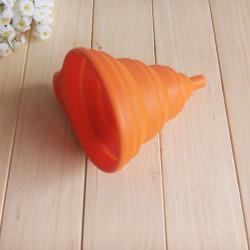Phễu rót nước Silicon thu gọn TS.1504 hàng Nhật màu cam
