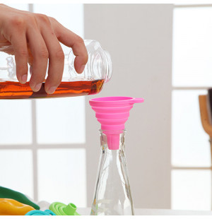 Phễu rót nước Silicon gấp gọn TS.1504 hàng Nhật màu hồng