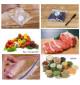 Bộ 20 túi Ziplock bảo quản thực phẩm 16x14cm hàng Nhật