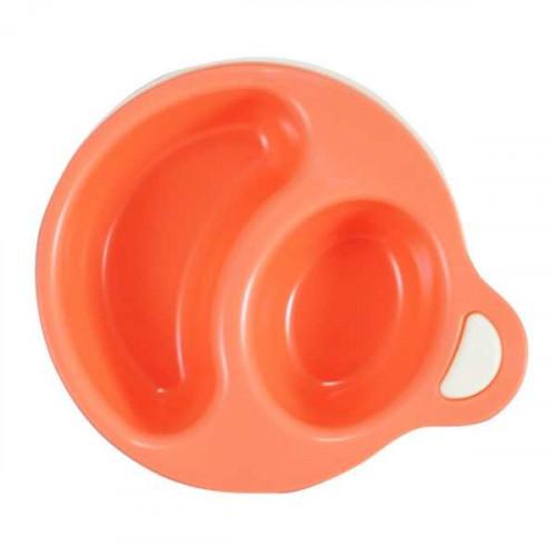 Bát ăn chia ngăn cho bé Inomata - màu hồng