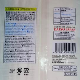 Khăn tắm tạo bọt 30x110cm Daiso Japan hàng Nhật kẻ sọc xanh