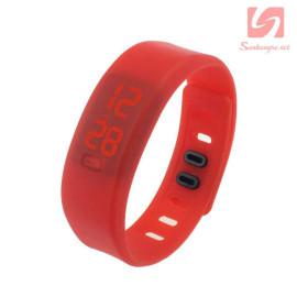 Đồng hồ LED vòng tay silicon thể thao CE101016 - Đỏ
