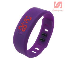 Đồng hồ LED vòng tay silicon thể thao CE101016 - Tím