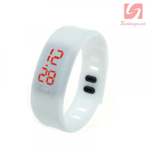 Đồng hồ LED vòng tay silicon thể thao CE101016 - Trắng