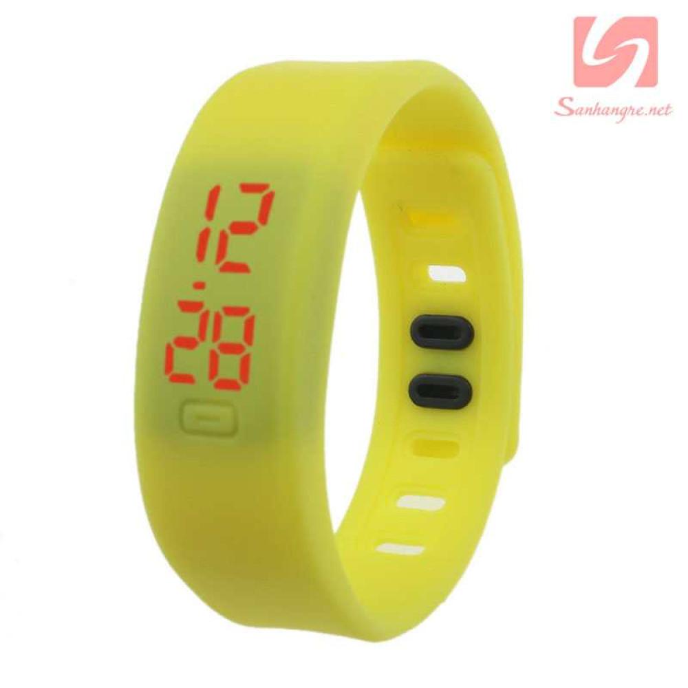 Đồng hồ LED vòng tay silicon thể thao CE101016 - Vàng