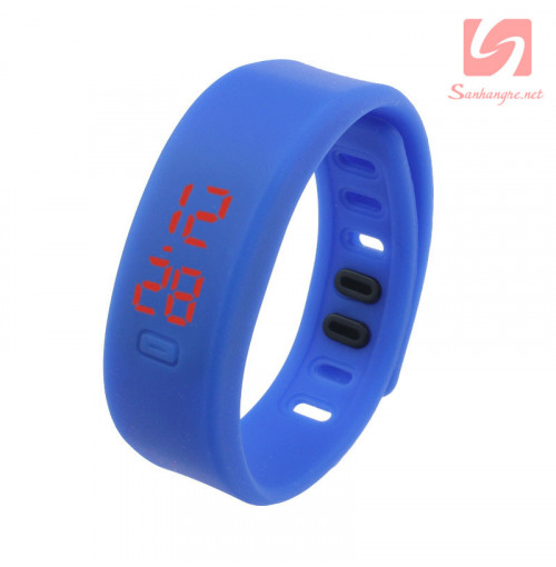 Đồng hồ LED vòng tay silicon thể thao CE101016 - Xanh biển