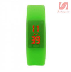 Đồng hồ LED vòng tay silicon thể thao CE101016 - Xanh lá