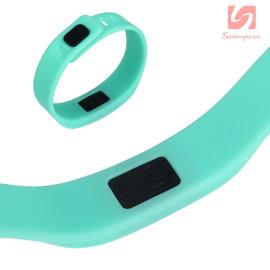Đồng hồ LED vòng tay silicon thể thao CE101016 - Xanh ngọc