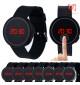 Đồng hồ LED tròn mặt cảm ứng JSS 1797 - Đỏ