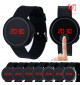 Đồng hồ LED tròn mặt cảm ứng JSS 1797 - Cam
