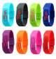 Đồng hồ LED silicon kiêm vòng tay thời trang - Xanh ngọc