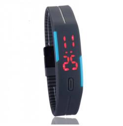 Đồng hồ LED silicon kiêm vòng tay thời trang - Tím than