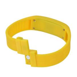 Đồng hồ LED silicon kiêm vòng tay thời trang - Vàng