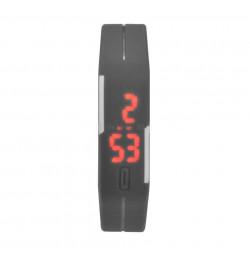 Đồng hồ LED silicon kiêm vòng tay thời trang - Ghi