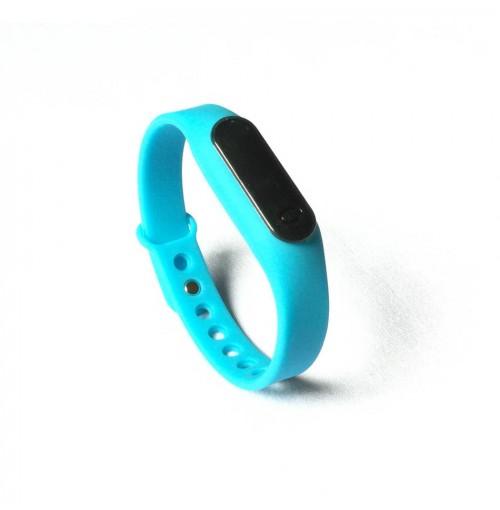 Đồng hồ LED mặt kính mini dây Silicon kiêm vòng tay thời trang - Xanh ngọc