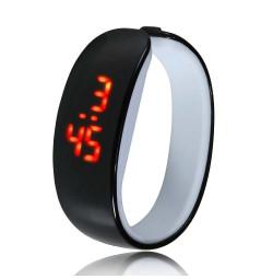 Đồng hồ LED vòng tay Nhựa Silicon thời trang kiểu mới - Đen