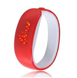 Đồng hồ LED vòng tay Nhựa Silicon thời trang kiểu mới - Đỏ