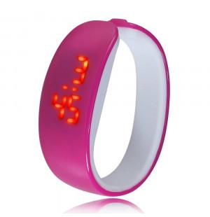 Đồng hồ LED vòng tay Nhựa Silicon thời trang kiểu mới - Tím