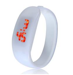 Đồng hồ LED vòng tay Nhựa Silicon thời trang kiểu mới - Trắng